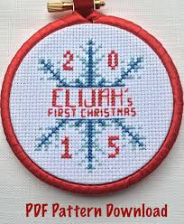 first christmas ornament cross stitch pattern by tangledtoad
