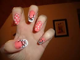 easy beginner peach spring summer flowers nail art stamping design