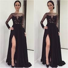 formal gowns formal dress black prom dresses sleeve evening dresses a