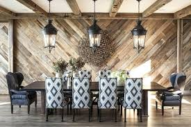 dining room design trend reclaimed wood wall design dining room