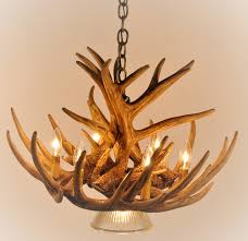 Antler Chandelier Canada Whitetail Deer 9 Antler Cascade Chandelier With 1 Downlight
