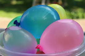 water balloons water balloon letter learning reading confetti