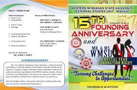 15th wmsu founding anniversary