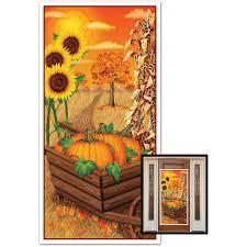 halloween door covers amazon com fall door cover party accessory 1 count 1 pkg 30