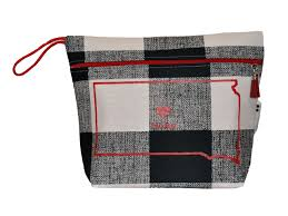 North Dakota travel laundry bag images South dakota buffalo plaid vinyl lined makeup bag or wet bag gif