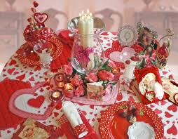 interior valentines paper craft idea red heart shaped paper craft