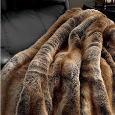 decorating using faux fur throw for luxury home accessories ideas