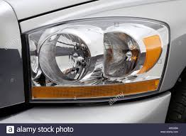 2006 dodge ram 2500 slt in silver headlight stock photo royalty