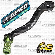 apico black green gear pedal lever shifter for kawasaki kx 125