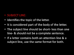 letter with attention line and subject line letter writing