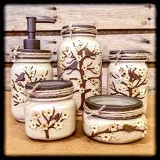 Mason Jar Bathroom Storage by Mason Jar Bathroom And Desk Sets U2013 Americanagloriana