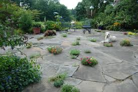 Backyard Flagstone Outdoor Patios In Chester County Naturescapes Landscaping Of