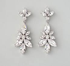 rhinestone chandelier earrings 55 bridal jewelry earrings wedding earrings chandelier earrings