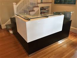 Reception Desk With Display Modern Reception Desk Stylish Reception Desk