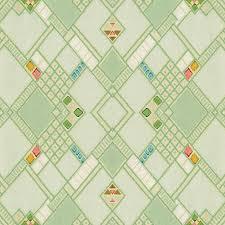 retro green diamond tile vintage wallpaper pattern digital art by