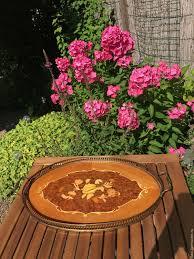 buy tray wild rose handmade rare holland brown tray vintage