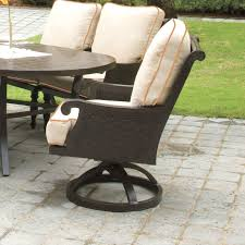 Patio Dining Chairs With Cushions Leona Jakarta Swivel Patio Dining Chair With Cushion Reviews