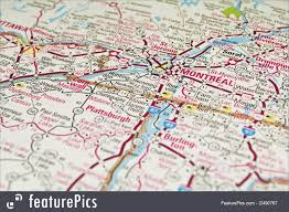 Map Of Montreal Signs And Info Montreal Map Quebec Stock Picture I2490767 At