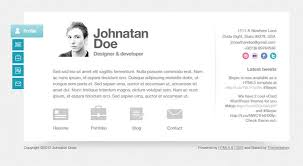 resume website template 41 html5 resume templates free samples