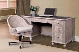Distressed Office Desk H35754 Rustwd Executive Desk Sea Winds Trading Co Indoor