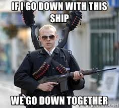 We Go Together Meme - if i go down with this ship we go down together fuck yeah simon