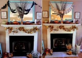 an owl inspired and thanksgiving mantle