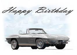 corvette birthday chevrolet corvette c2 stingray 21st 40th 50th 60th birthday card