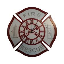 firefighter home decorations firefighter wall clocks images home wall decoration ideas