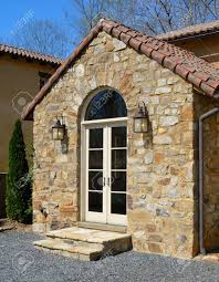 Tuscan Style A Tuscan Style Villa With Stone Edifice Stock Photo Picture And