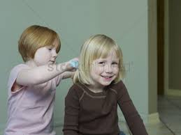 5 year olds bob hair 7 8 year old girl combs 4 5 year old girls hair stock photo