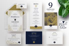 wedding invitation suite isabella invitation templates