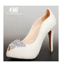 wedding shoes toe pearl peep toe wedding shoes noemie sla027 lilianheels