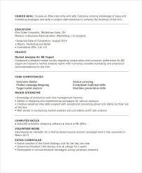 Mba Internship Resume Sample by 23 Marketing Resume Templates Free U0026 Premium Templates