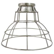Portfolio Track Lighting Replacement Parts by Shop Portfolio 7 In H 9 In W Brushed Nickel Wire Industrial Cage