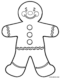 christmas gingerbread man coloring pages resume collection