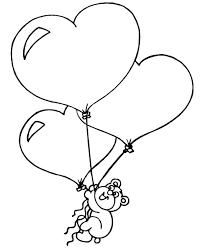 teddy bear and heart coloring pages coloring home