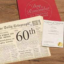 birthday gifts 60 year 60th birthday gift ideas historic newspapers