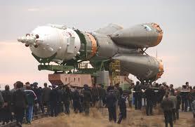 apod 2005 october 9 rollout of soyuz tma 2 aboard an r7 rocket