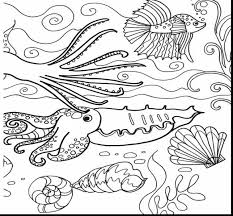 extraordinary sea monster coloring pages with ocean coloring pages