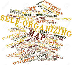 Map Formula Abstract Word Cloud For Self Organizing Map With Related Tags