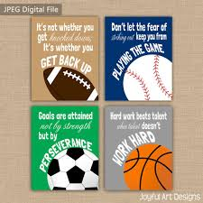 printable sports quotes set of 4 motivating sports quotes printable signs football