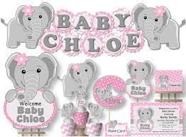 amazon com elephant baby shower decoration supplies for