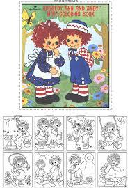 raggedy ann u0026 andy mini coloring book raggedy ann raggedy andy