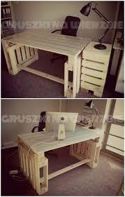 Handmade Office Furniture by Beautiful Decor On Pallet Office Furniture 104 Diy Pallet Office
