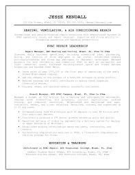 hvac technician resume examples 100 maintenance resume examples
