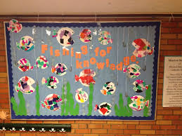 fishing for knowledge bulletin board for preschool fish made of
