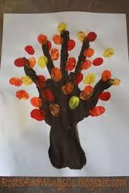 fall fingerpainting create an autumn tree fall trees trees