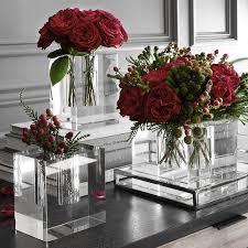 4x4 Glass Vase Crystal Block Vase Williams Sonoma