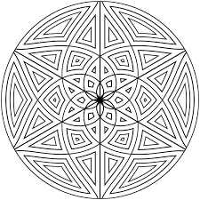 Geometric Designs Free Printable Geometric Coloring Pages For Adults