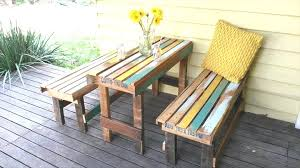 patio table with bench lovely collection in pallet patio furniture